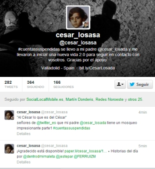 Cuenta suspendida César Losada