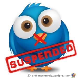 Cuentas suspendidas en Twitter