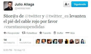 Cuentas suspendidas Twitter