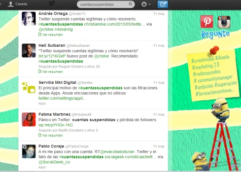 Tweets #CuentasSuspendidas