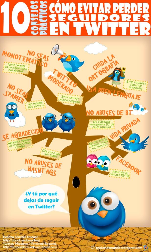 Cómo evitar perder seguidores en Twitter