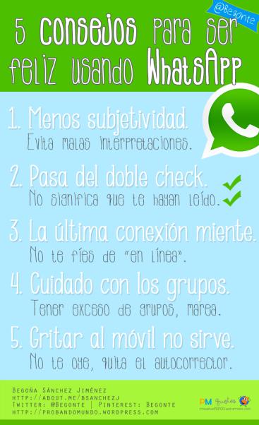 consejos usar whatsapp y ser feliz