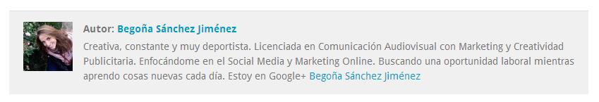 información acerca de autor Begoña Sánchez Jiménez