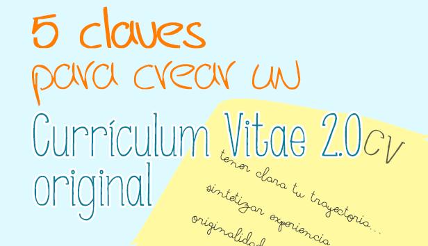 5 claves para  CV 2.0 original creativo diferente